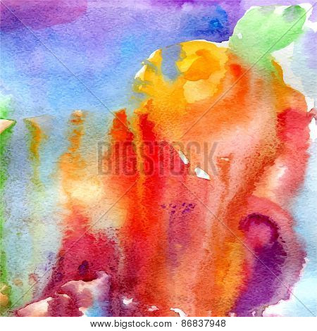 Vector Abstract Liquid Watercolor Colorful Background