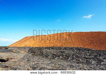 Black And Red Landscape