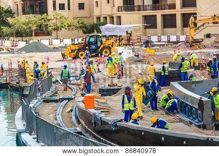 Male Construction Worker In Dubai