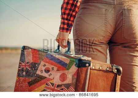 Traveler With A Suitcase