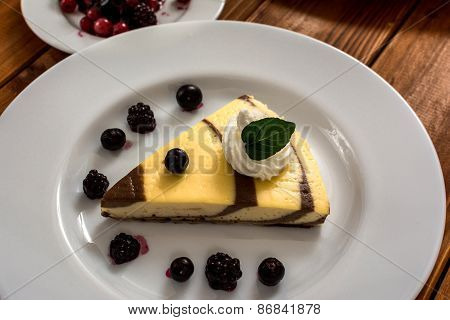 Curd And Cocoa Dessert