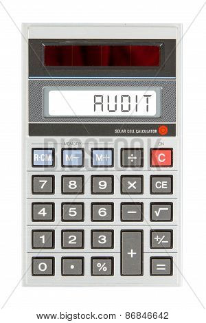 Old Calculator - Audit