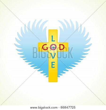God is love logo