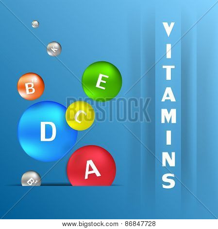 Colorful Capsules With Vitamins