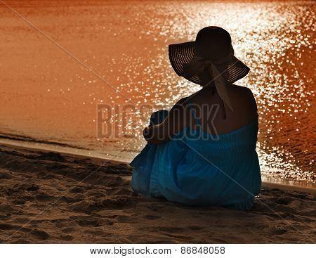 Woman Watching The Sea
