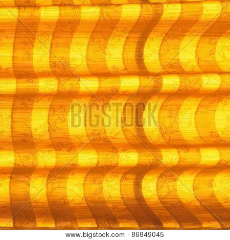 Warm Tone Blinds Or Curtains And Abstract Natural Sunlight