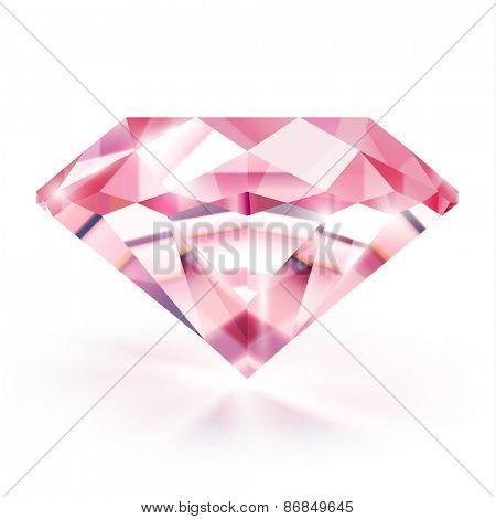 Shiny ruby on white background - eps10