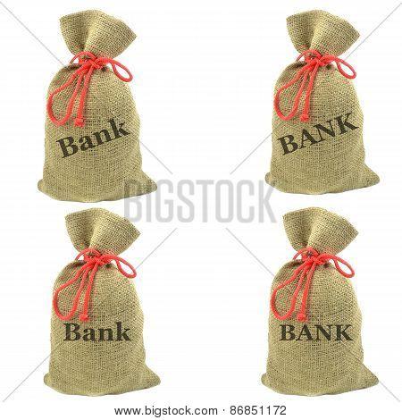 Bags of bank money