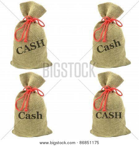 Money bags of cash