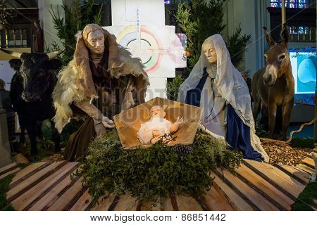 Christmas Scene In The Cathedral The Dutch City Of Den Bosch