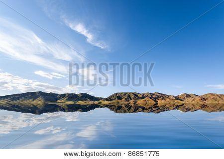 Blue Sky On Lake