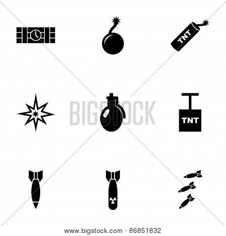 Vector bomb icon set