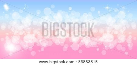 Wide gentle pastel multicolored sparkly  bokeh background
