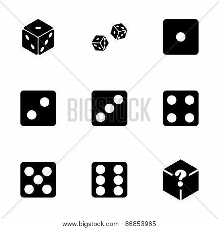 Vector dice icon set