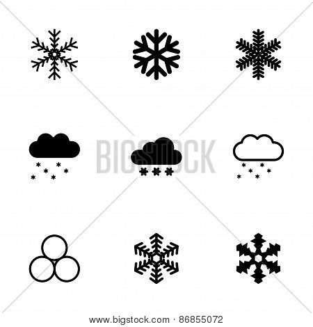 Vector snow icon set