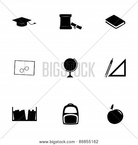 Vector study icon set