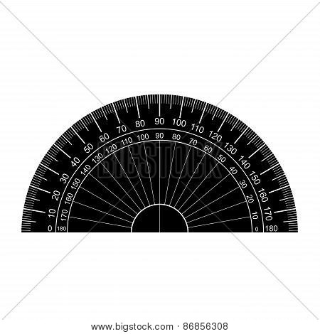 Protractor Silhouette Vector.eps