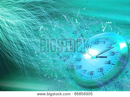 Time is passing concept