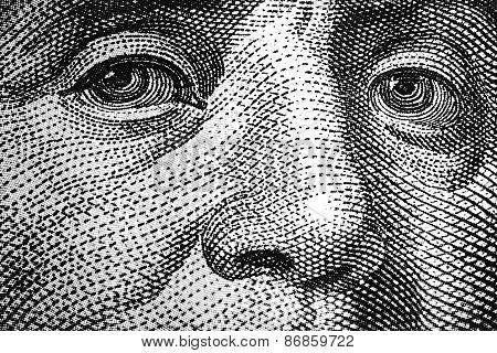 Benjamin Franklin eyes