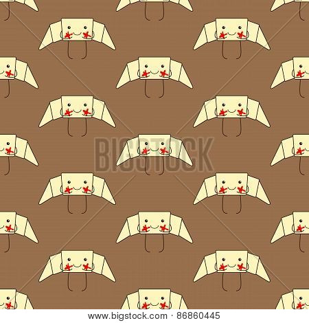 Pattern With Funny Croissant