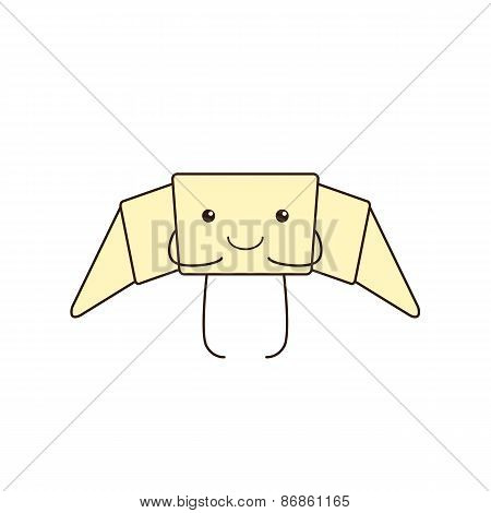 Funny Croissant With Legs And Hands