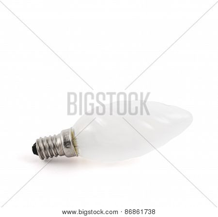 Incandescent light bulb isolated