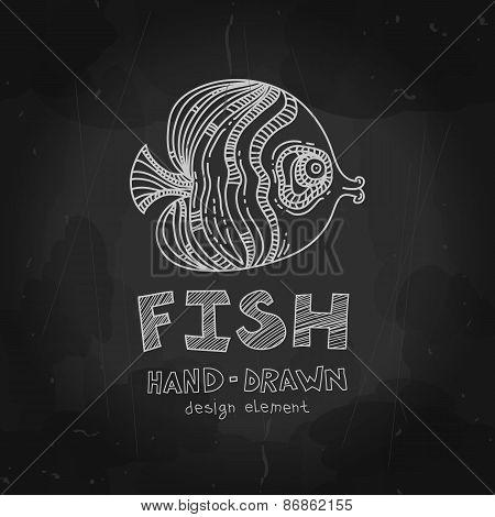 Tropical Fish. Vector Illustration. Ocean Fish. Vector Illustrat