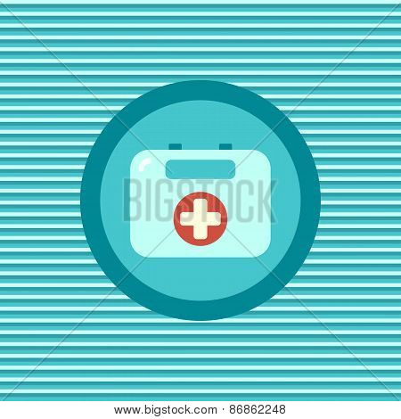 First Aid Kit Color Flat Icon