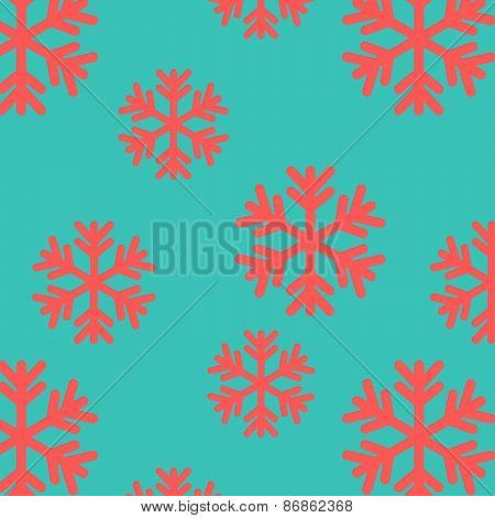 Snow Flake Seamless Pattern