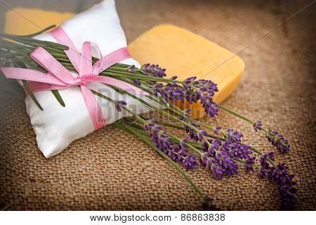 Lavender and lavender soap