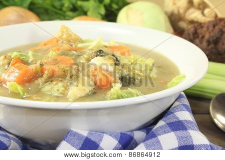 Hot Cabbage Stew With Vegetables