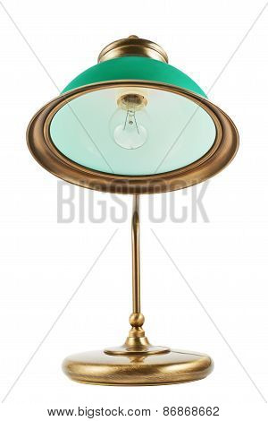 Metal table-lamp isolated