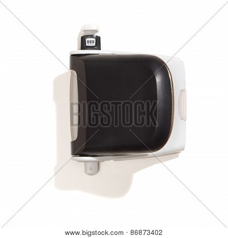 Black Perforator, Top View, Isolated On White