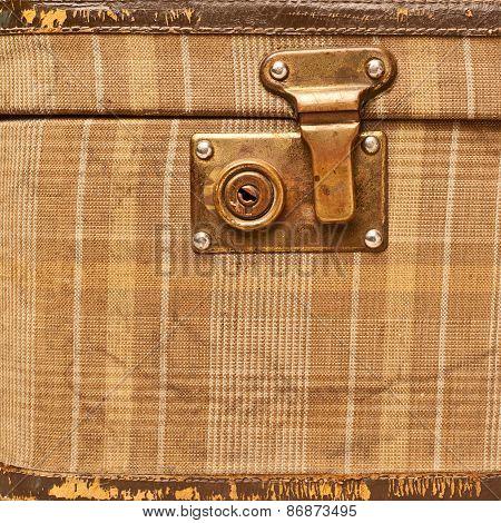 Suitcase bag lock fragment