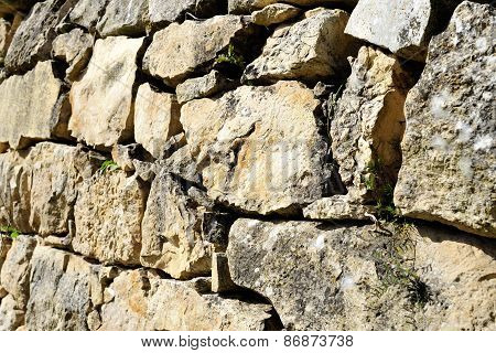 Old Stone Terrace Wall.