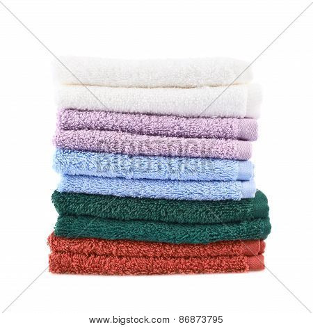 Pile of terry towels