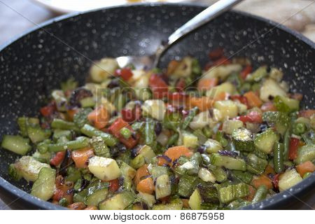 Vegetables And Legumes Chopped