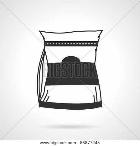 Glutamine supplements black vector icon