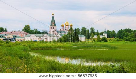 The monastery on the lake