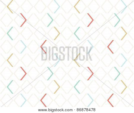 Clean light gentle geometrical modern seamless pattern. Colorful rectangles simple background. Vecto