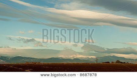 Flying Clouds Over Longs Peak