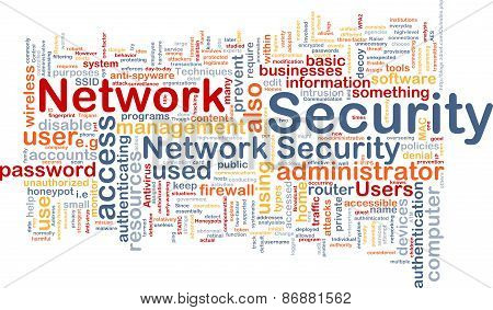 Network Security Background Concept