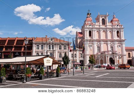 Vilnius Town Hall Square and St, Casimir Church