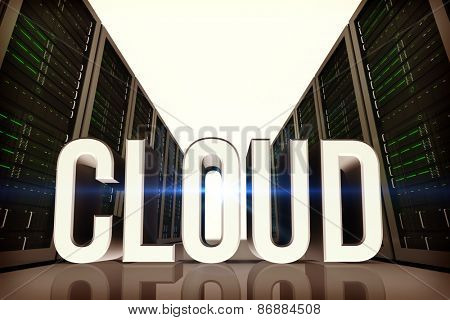 cloud against server hallway