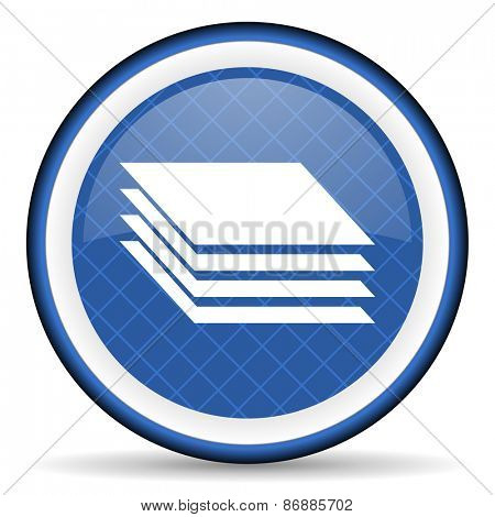 layers blue icon gages sign