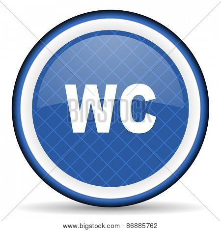 toilet blue icon wc sign