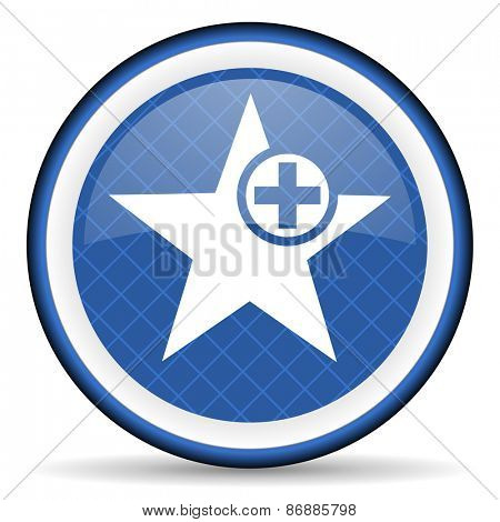star blue icon add favourite sign