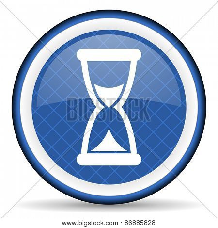 time blue icon hourglass sign