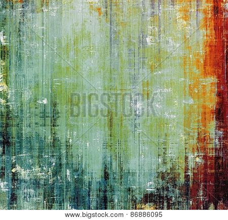 Abstract blank grunge background, old texture with stains and different color patterns: yellow (beige); brown; red (orange); green