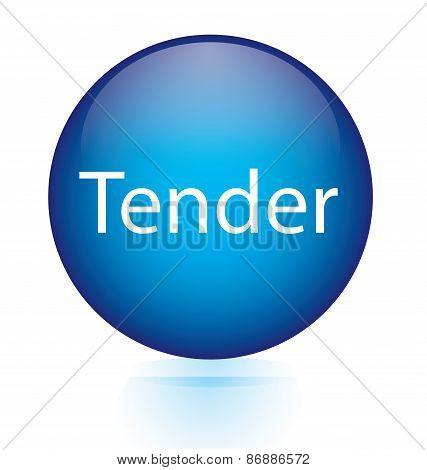 Tender blue button